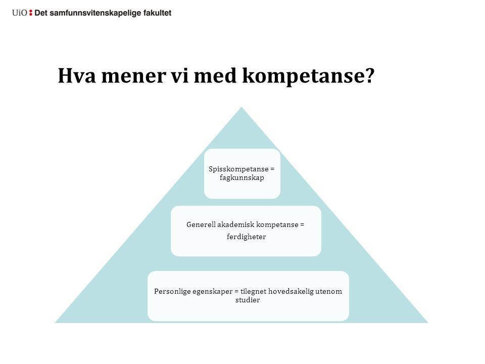 Hva mener vi med kompetanse.