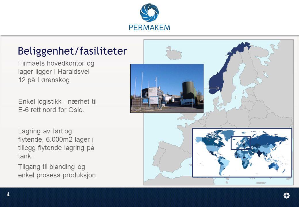 4 Beliggenhet/fasiliteter Firmaets hovedkontor og lager ligger i Haraldsvei 12 på Lørenskog.
