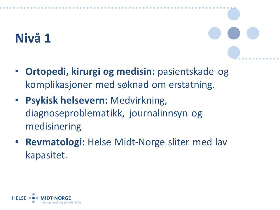 Nivå 1 Ortopedi, kirurgi og medisin: pasientskade og komplikasjoner med søknad om erstatning.