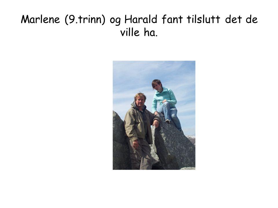Marlene (9.trinn) og Harald fant tilslutt det de ville ha.