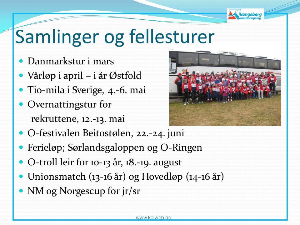 Samlinger og fellesturer Danmarkstur i mars Vårløp i april – i år Østfold Tio-mila i Sverige, 4.-6.