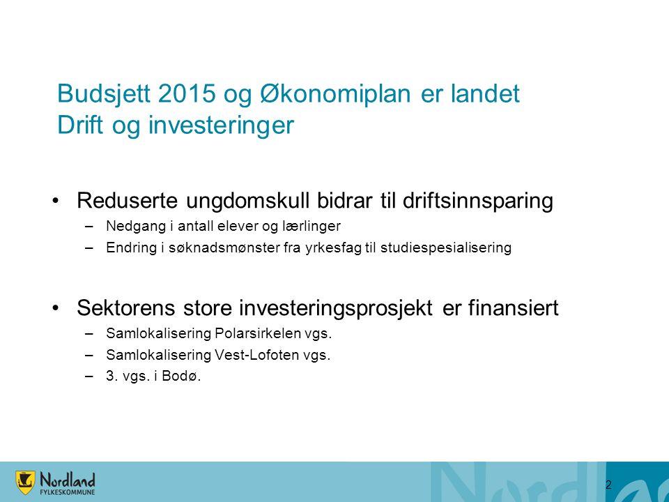 Viktige endringer i økonomiplanen Steigenmodellen er finansiert t.o.m.