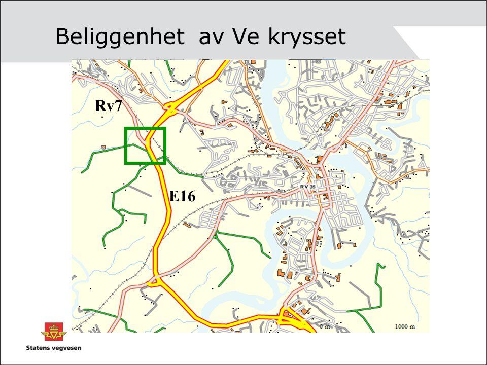 Beliggenhet av Ve krysset E16 Rv7