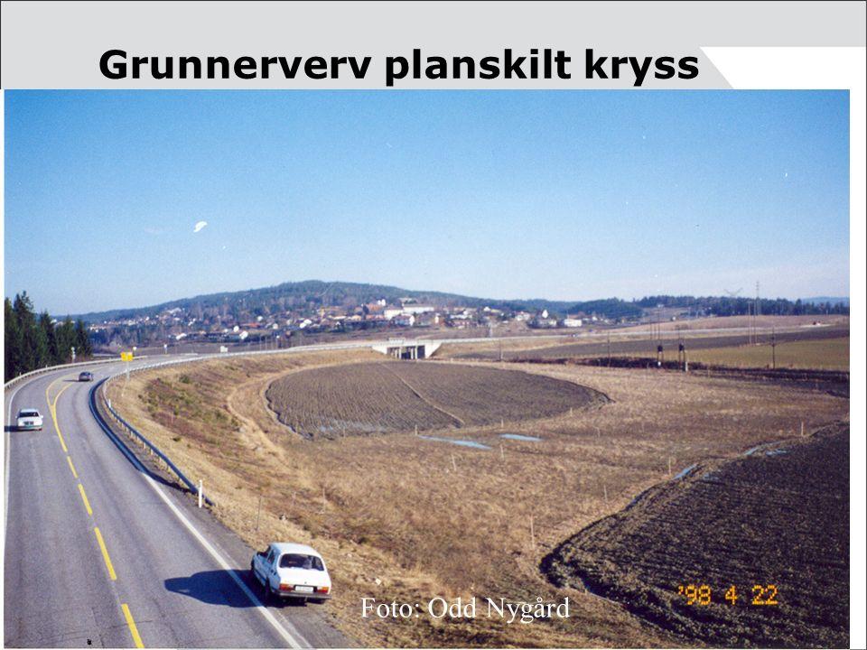 Grunnerverv planskilt kryss Foto: Odd Nygård