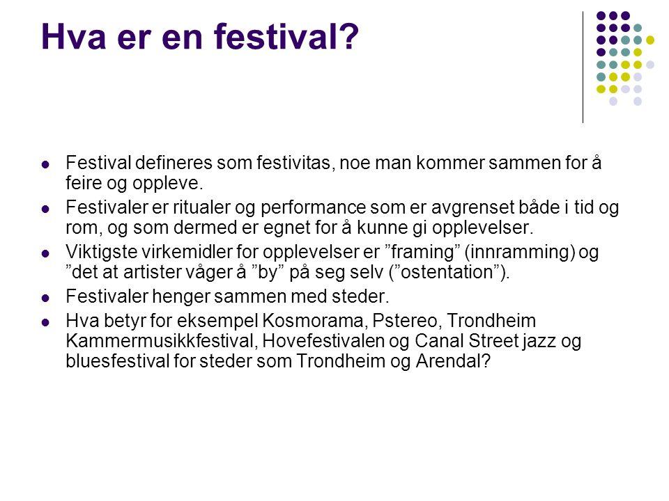 Hva er en festival.