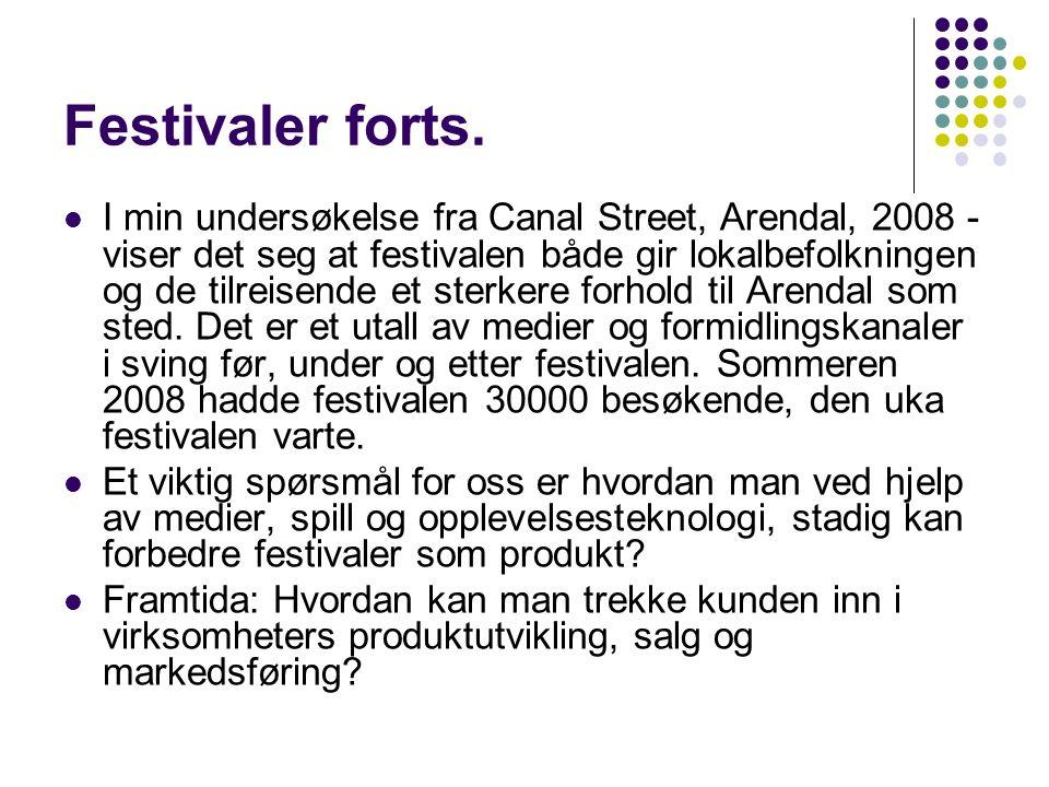 Festivaler forts.