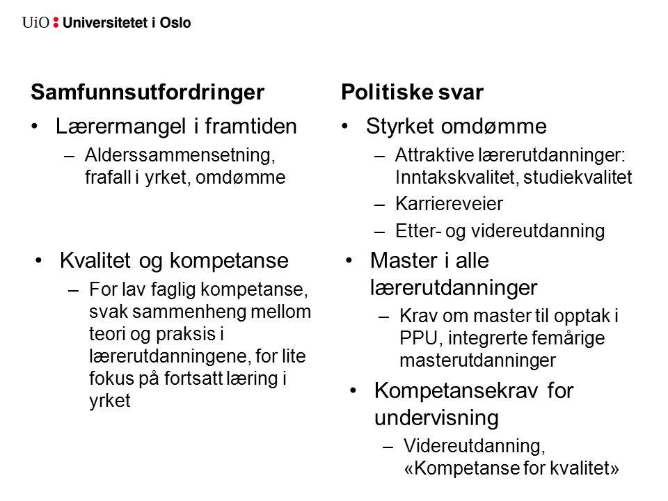 5 Lektorprogrammet på UiO Oppdrag (jfr.