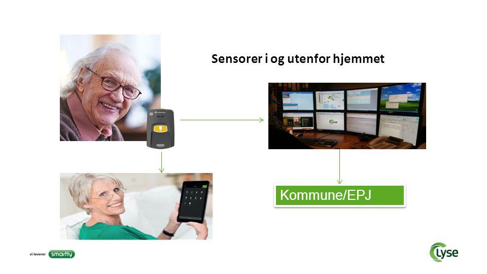 Sensorer i og utenfor hjemmet Kommune/EPJ