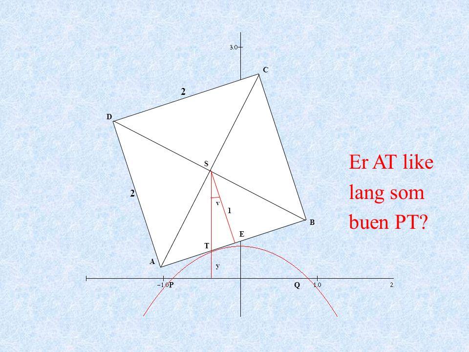 A B C D PQ y 2 2 v S T E 1 Er AT like lang som buen PT?