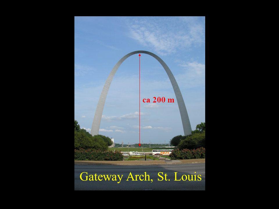Gateway Arch, St. Louis ca 200 m