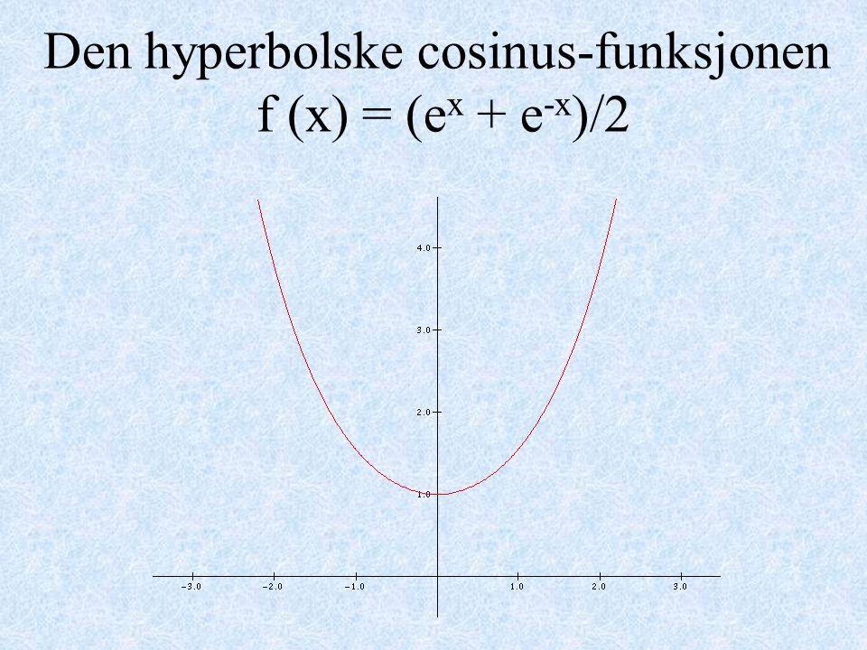 Den hyperbolske cosinus-funksjonen f (x) = (e x + e -x )/2