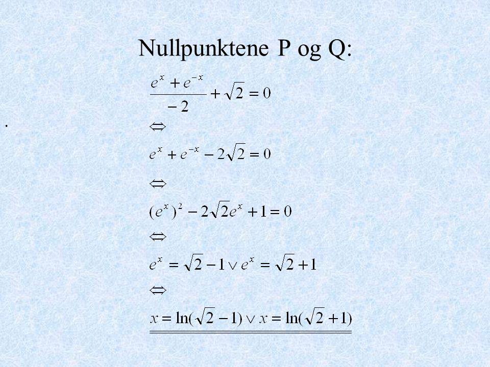 Nullpunktene P og Q: