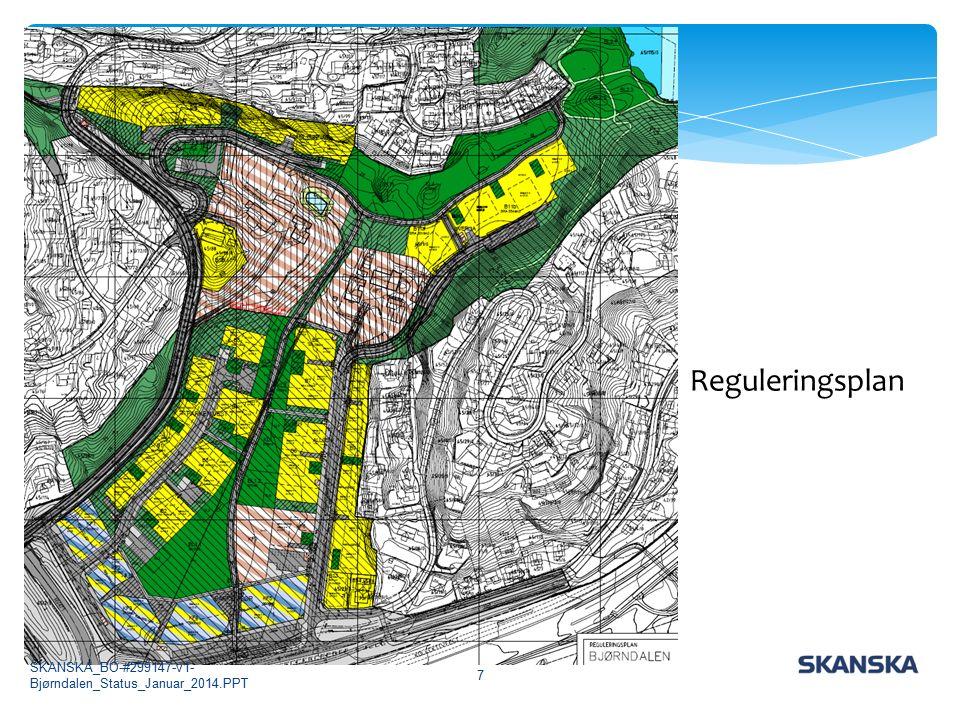 Reguleringsplanen 7 Reguleringsplan SKANSKA_BO-#299147-v1- Bjørndalen_Status_Januar_2014.PPT