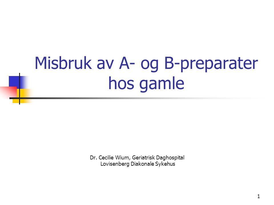1 Misbruk av A- og B-preparater hos gamle Dr.