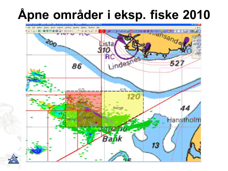 Åpne områder i eksp. fiske 2010