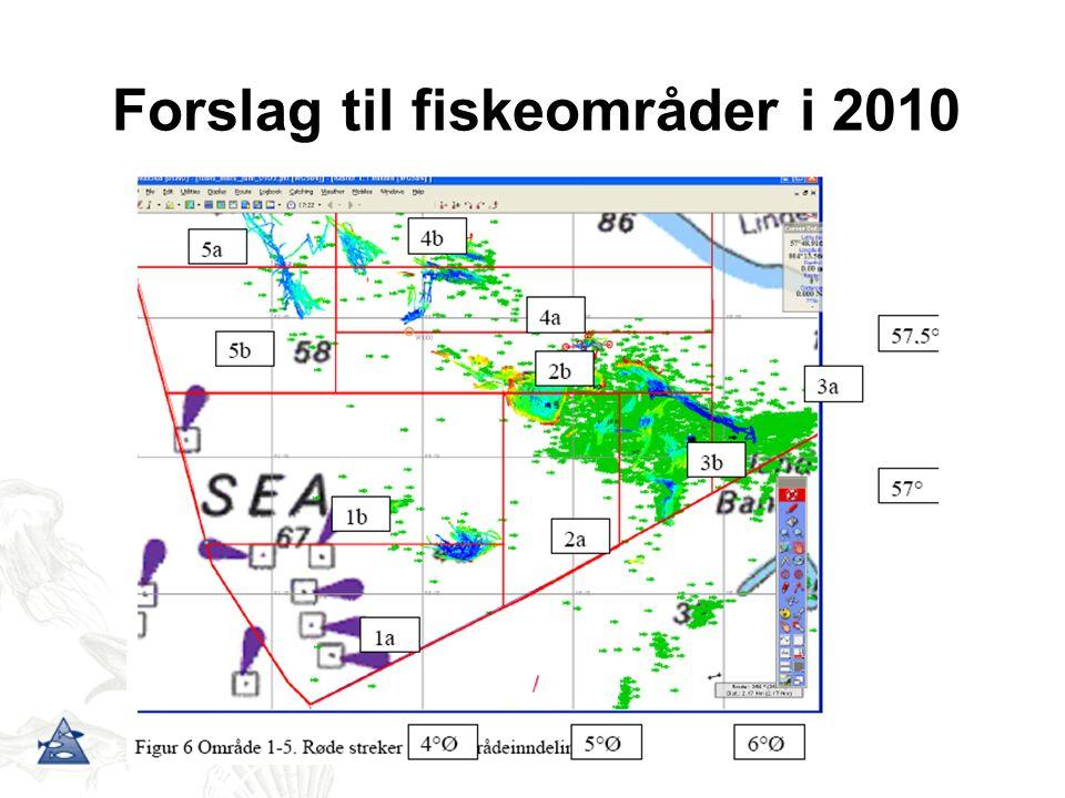 Forslag til fiskeområder i 2010