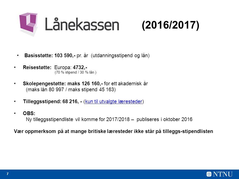 7 (2016/2017) Basisstøtte: 103 590,- pr.