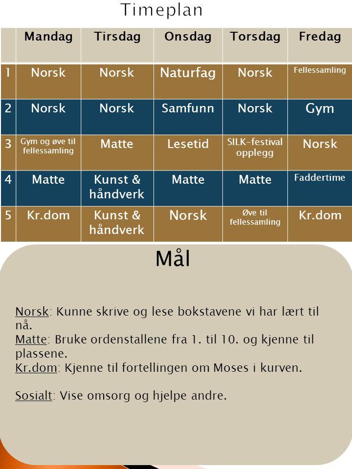 Til tirsdag: Norsk: Les s.35 i leseboka di.Tre ganger med en voksen.