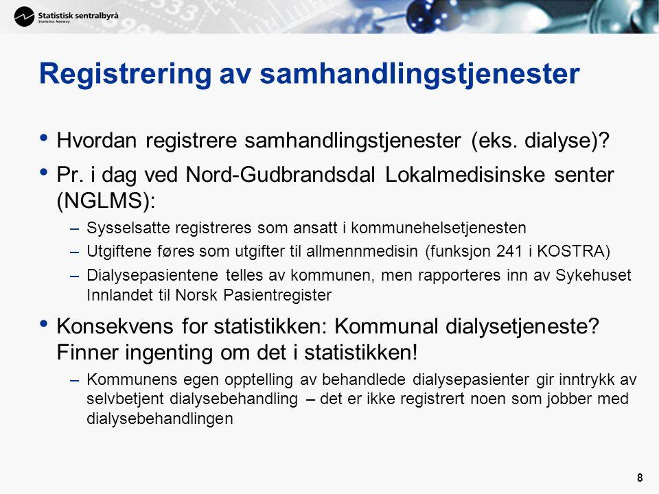 8 Registrering av samhandlingstjenester Hvordan registrere samhandlingstjenester (eks.