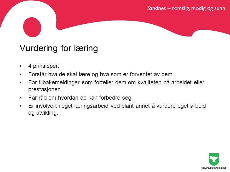 Underveisvurdering vs sluttvurdering Alt fram til standpunktvurdering våren 10.