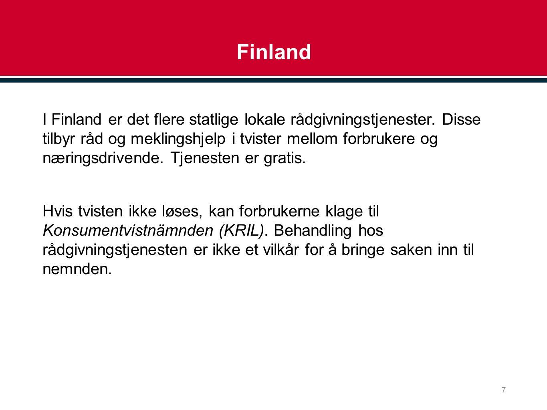 Finland I Finland er det flere statlige lokale rådgivningstjenester.