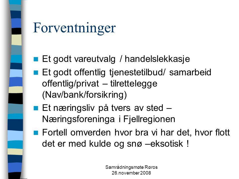 Samrådningsmøte Røros 26.november 2008 TAKK FOR MEG! May Kristin Knutsen