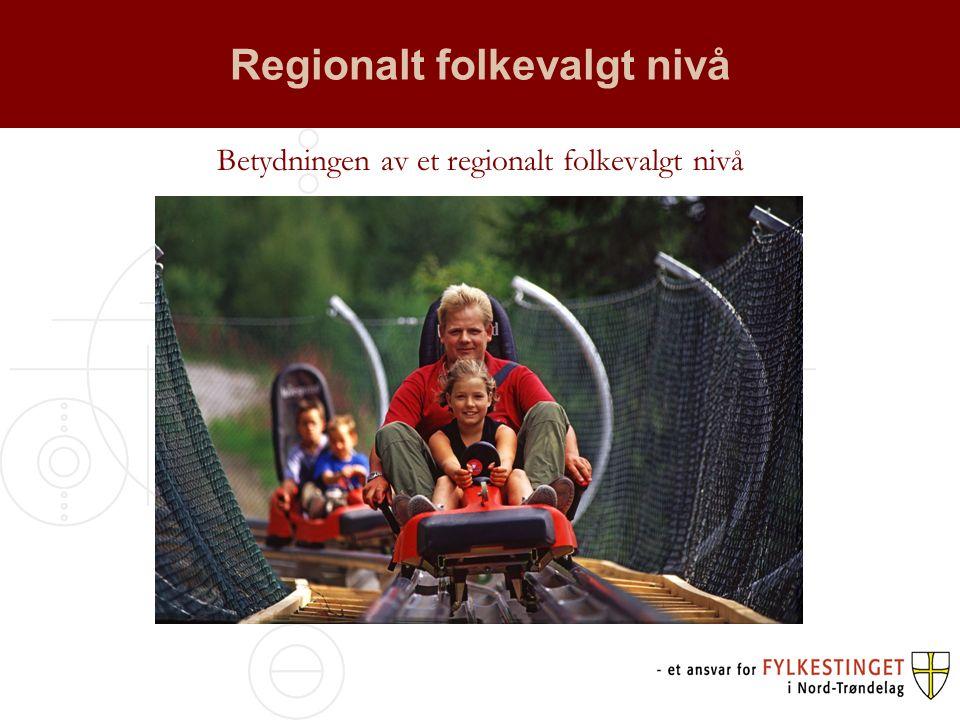 Regionalt folkevalgt nivå Betydningen av et regionalt folkevalgt nivå
