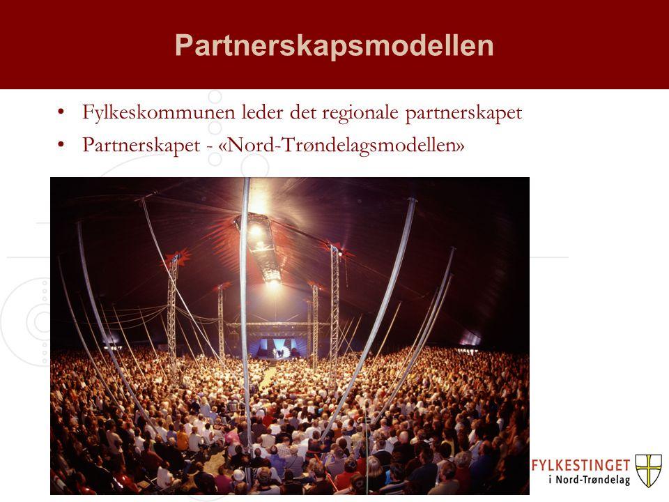 Partnerskapsmodellen Fylkeskommunen leder det regionale partnerskapet Partnerskapet - «Nord-Trøndelagsmodellen»
