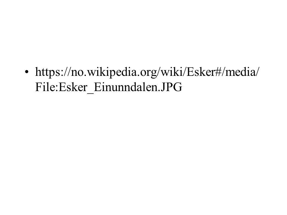 https://no.wikipedia.org/wiki/Esker#/media/ File:Esker_Einunndalen.JPG