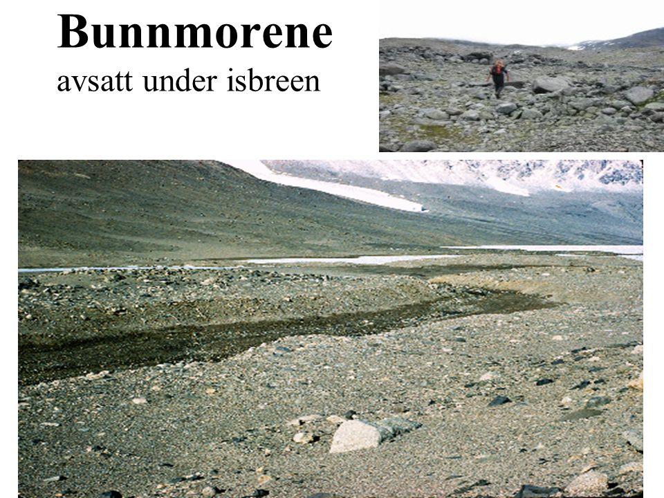 Bunnmorene avsatt under isbreen