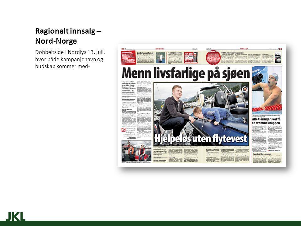 Ragionalt innsalg – Nord-Norge Dobbeltside i Nordlys 13.