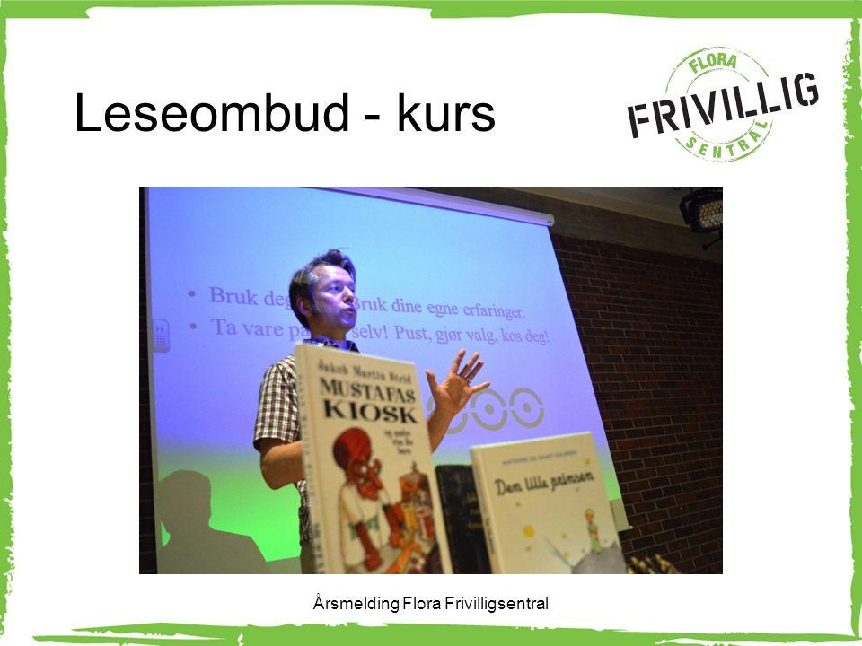 Leseombud - kurs Årsmelding Flora Frivilligsentral