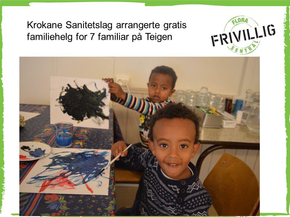 Gode opplevingar for alle i oppveksten Krokane Sanitetslag arrangerte gratis familiehelg for 7 familiar på Teigen