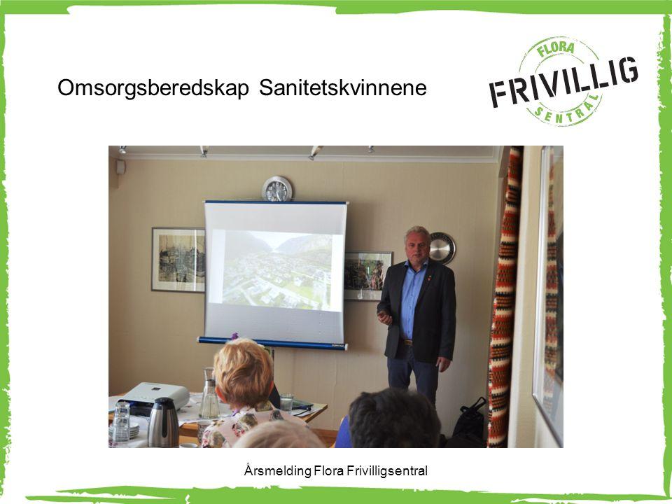 Omsorgsberedskap avtale med kommunen Årsmelding Flora Frivilligsentral