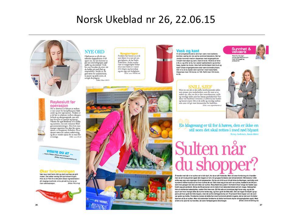 Norsk Ukeblad nr 26, 22.06.15