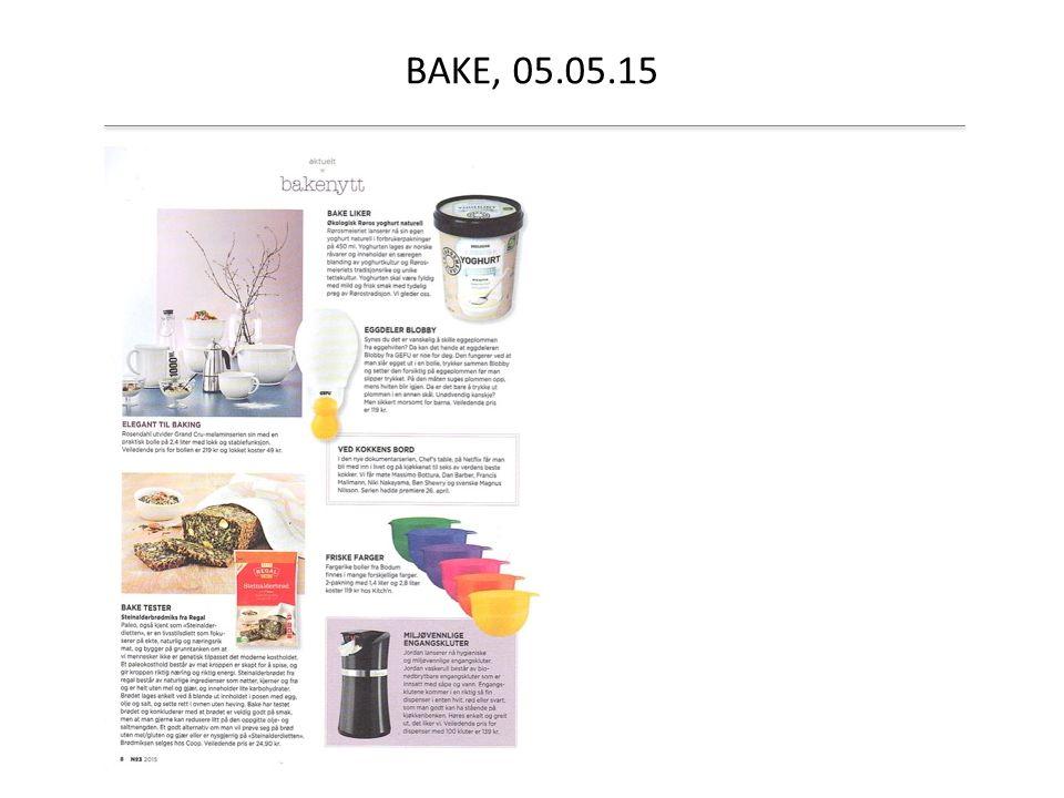 BAKE, 05.05.15