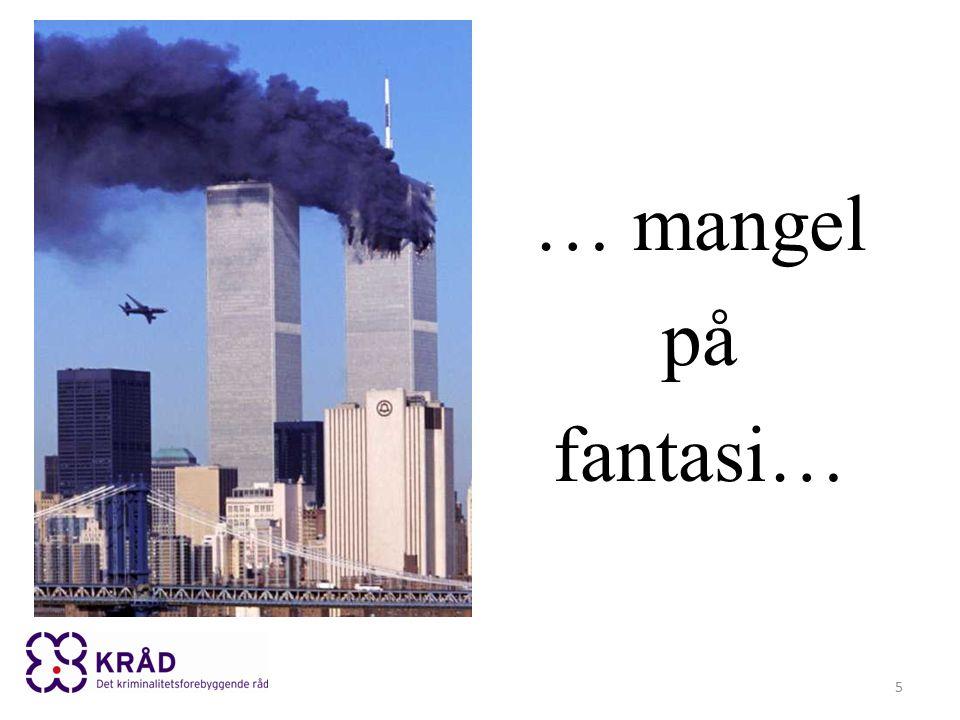 Sir Richard Dearlove, MI6, 1999-2004 Det er så godt som umulig å forhindre terroraksjoner som den i Norge.