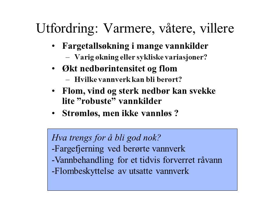 Utfordring: Tilfredsstillende hygieniske barrierer Barriere i kilde/nedbørfelt (case Bergen m.fl.).