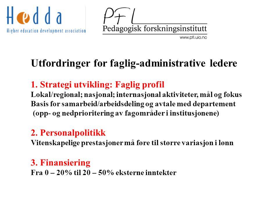 Utfordringer for faglig-administrative ledere 1.