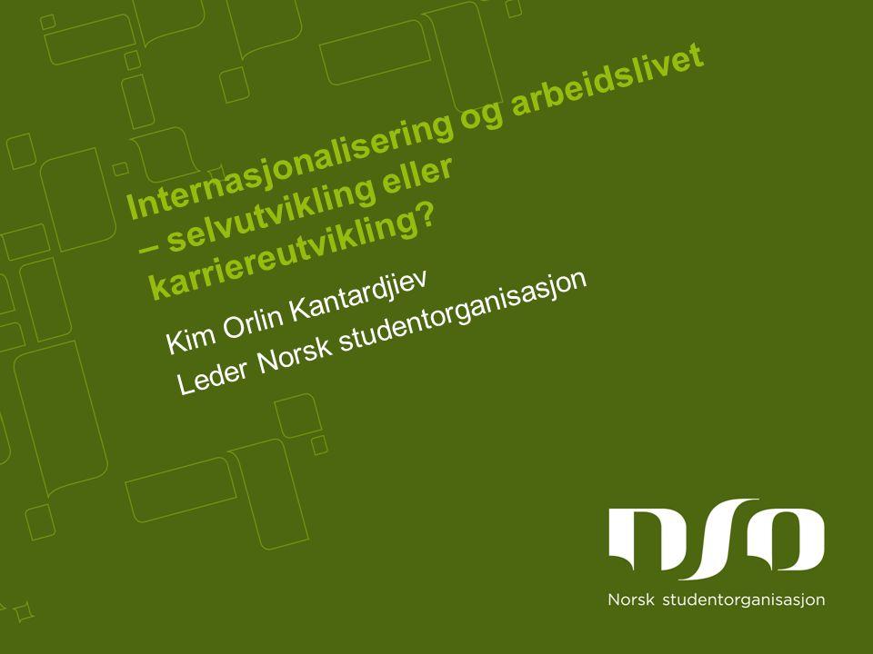 Internasjonalisering og arbeidslivet – selvutvikling eller karriereutvikling.