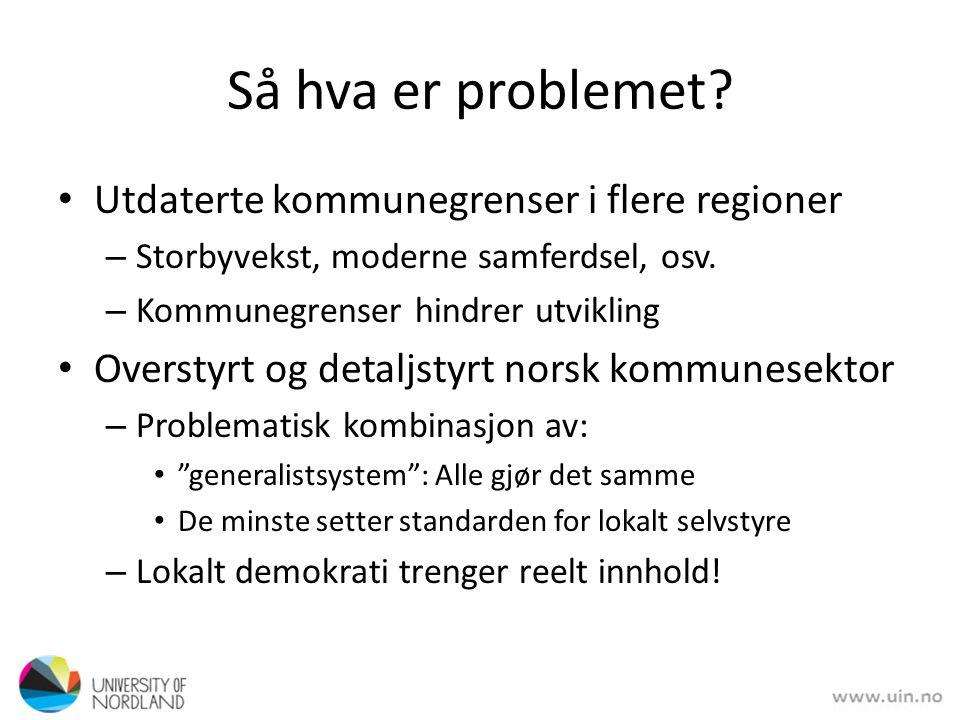 Så hva er problemet.