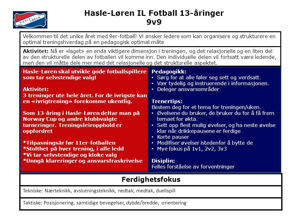 Hasle-Løren skal utvikle gode fotballspillere som tar selvstendige valg.