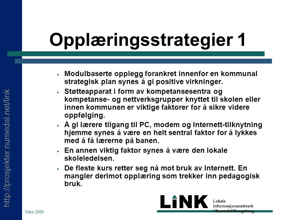 http://prosjekter.numedal.net/link LINK Lokale informasjonsnettverk i Numedal/Kongsberg Mars 2000 Hvilke lokale forutsetninger har vi.