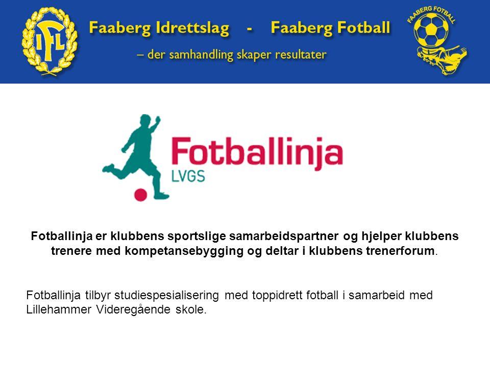 Fotballinja er klubbens sportslige samarbeidspartner og hjelper klubbens trenere med kompetansebygging og deltar i klubbens trenerforum. Fotballinja t