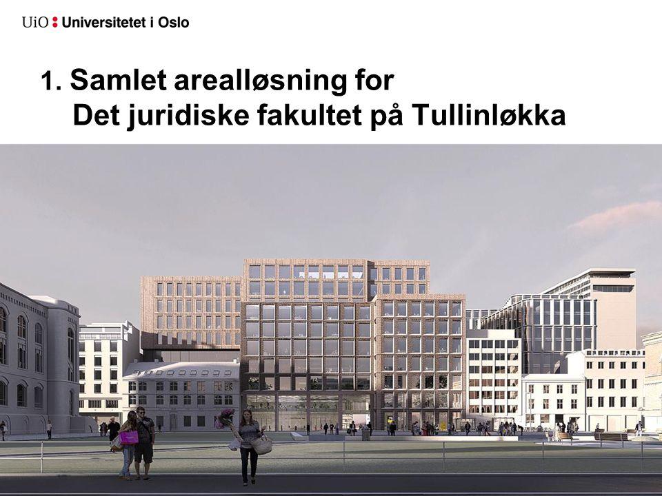 1. Samlet arealløsning for Det juridiske fakultet på Tullinløkka