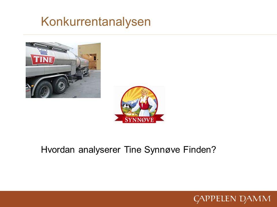 Konkurrentanalysen Hvordan analyserer Tine Synnøve Finden?