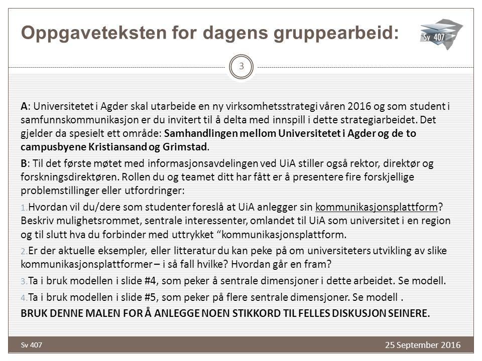 Organisasjoner som retorikere 4 Rammesettere Allierte Ad-hoc interesserte Tilførere Mottakere Rhetor/ Organi- sasjon