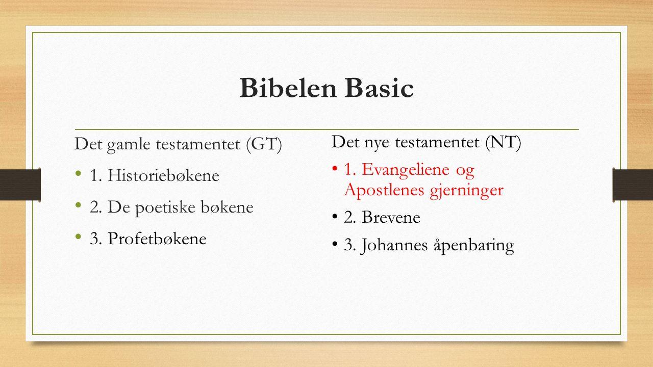Bibelen Basic Det gamle testamentet (GT) 1.Historiebøkene 2.