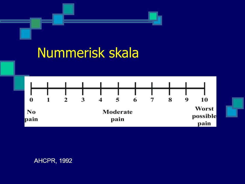 Nummerisk skala AHCPR, 1992