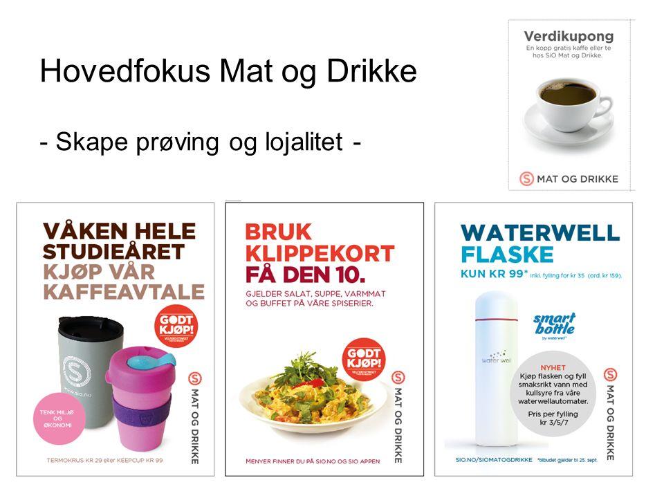 Hovedfokus Mat og Drikke - Skape prøving og lojalitet - 25.09.2016 SiO 16
